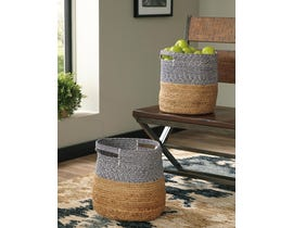 Signature Design by Ashley PARRISH  Series two-tone NATURAL/Blue Baskets A2000097 (Set of 2)
