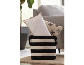 Signature Design by Ashley EDGERTON Series Woven Two-tone Black/White Basket A2000098