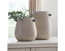 Signature Design by Ashley DIAH Series Tan texture glazed ceramic Vases A2000109 (set of 2)