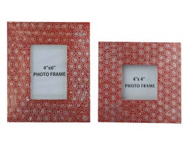 Signature Design by Ashley Bansi Series Photo Frame Set in Orange A2000150