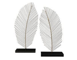 Signature Design by Ashley ELEUTHERIA Series Black and natural finished metal  Sculptures A2000206 (set of 2)