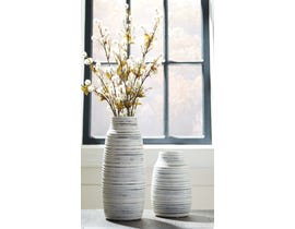 Signature Design by Ashley DONAVER Series Gray and white crackle glazed ceramic vases A2000210 (set of 2)
