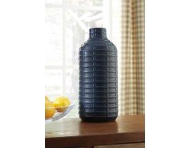 Signature Design by Ashley DOANE Series Matte blue glazed ceramic vase A2000236