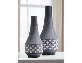 Signature Design by Ashley DORNITILLA Series Matte black and white painted ceramic Vases A2000262 (set of 2)