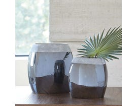 Signature Design by Ashley DERRING Series Black nickel glazed ceramic Vases A2000264 (set of 2)