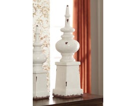 Signature Design by Ashley DIEM Series Antique white glazed ceramic Finial A2000269
