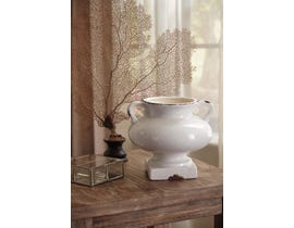 Signature Design by Ashley DIERDRA Series Antique white glazed ceramic urn A2000270