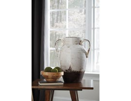 Signature Design by Ashley DION Series Distressed white glazed ceramic Vase A2000331