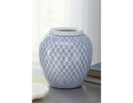 Signature Design by Ashley DIONYHSIUS Series Blue and white finished porcelain vase A2000341