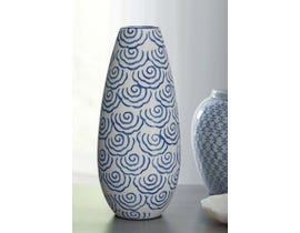 Signature Design by Ashley DIONYHSIUS Series Blue and white finished porcelain vase A2000342