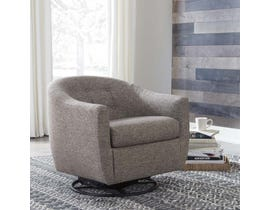 Signature Design by Ashley Upshur Collection Swivel Glider Accent Chair in Taupe A3000003