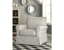 Signature Design by Ashley Searcy Collection Swivel Glider Accent Chair in Quartz A3000006