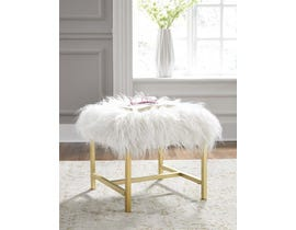 Signature Design by Ashley Elissa Collection Stool in White A3000008