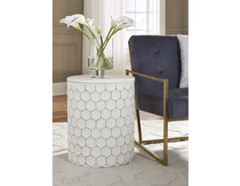 Signature Design by Ashley Polly Collection Stool in White A3000013