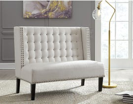 Signature Design by Ashely Beauland Series Accent Bench in ivory A3000116