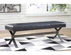 Signature Design by Ashley Lariland Series Faux Accent Bench in Black A3000153
