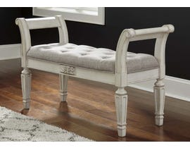 Signature Design by Ashley Realyn Collection Accent Bench in Antique White A3000157