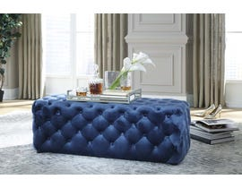Signature Design by Ashley Lister Collection Accent Ottoman in Navy A3000169