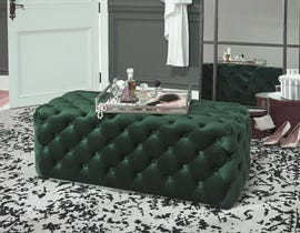 Signature Design by Ashley Lister Collection Accent Ottoman in Green A3000170