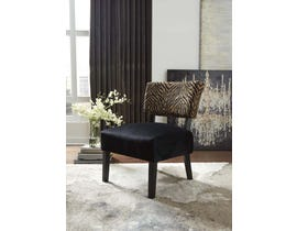 Signature Design by Ashley Parvin Collection Accent Chair in Gold/Black A30000181
