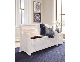 Signature Design by Ashley Dannerville Collection Storage Bench in Antique White A3000199