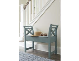 Signature Design by Ashley Heron Ridge Collection Accent Bench in Blue A4000035
