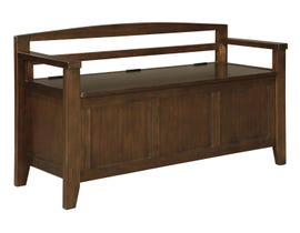 Signature Design by Ashely Charvanna Series Storage Bench in dark brown A4000059