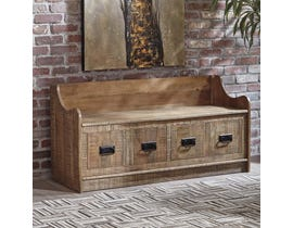 Signature Design by Ashley Garrettville Collection Storage Bench in Brown A4000093