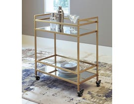 Ashley Kailman Series Bar Cart in Gold Finish A4000095