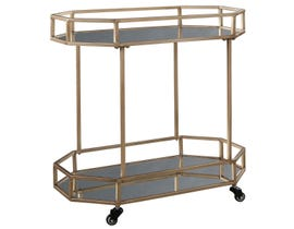 Signature Design by Ashely Daymont Series Bar Cart in gold finish A4000102