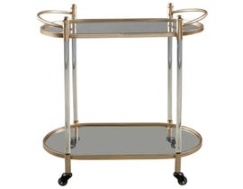 Signature Design by Ashely Cordland Series Bar Cart in gold finish A4000103