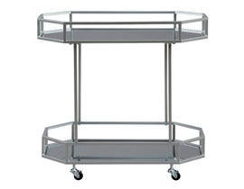 Signature Design by Ashely Kadinburg Series Bar Cart in silver finish A4000120