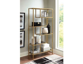 Signature Design by Ashley Frankwell Series Bookcase in Gold Finish A4000286