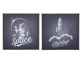 Signature Design by Ashley Draco Series Outer Space Design Wall Art Set (2/CN) A8000239