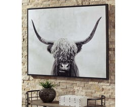 Signature Design by Ashley Pancho Series Highland Cow Wall Art A8000258