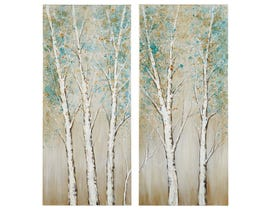 Signature Design by Ashley Tree Design Wall Art Set (2/CN) A8000274