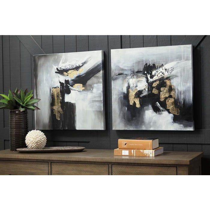 Fabulous Signature Design By Ashley Jerrin Series Wall Art Set 2 Cn A8000275 Home Remodeling Inspirations Gresiscottssportslandcom