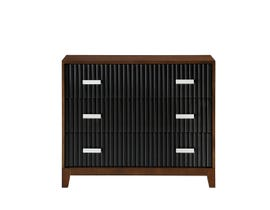 Avalon 3-Drawer Accent Chest in Brown & Black AC9561-BBK73