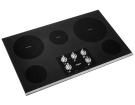 Whirlpool 36 Inch Electric Ceramic Glass Cooktop with Two Dual Radiant Elements WCE77US6HS