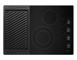Maytag 30 inch Electric Cooktop with Reversible Grill and Griddle MEC8830HB