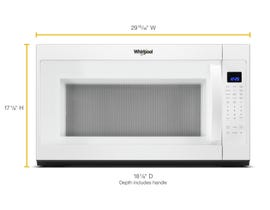 Whirlpool 30 inch 2.1 cu.ft. Over-the-range Microwave with Steam Cooking in White YWMH53521HW