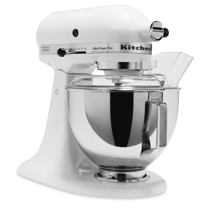 Kitchenaid Ultra Power Plus Tilt Head Stand Mixer In White Ksm100pswh