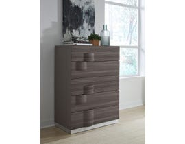 Global Furniture Adele Chest Grey Hg & Zebra Wood