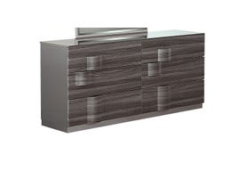 Global Furniture Adele Dresser Grey Hg & Zebra Wood