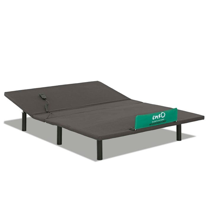 Enso Sleep System Adjustable Queen Size Bed Set in Black PB175Q