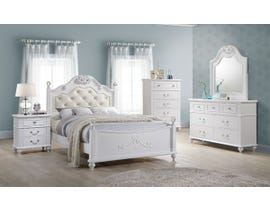 High Society Alana Series 6pc Bedroom Set in White AN700