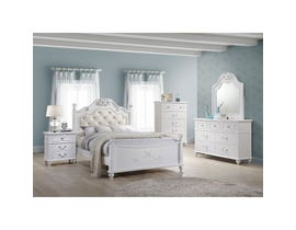 High Society Alana Series 6pc Full Bedroom Set in White AN700
