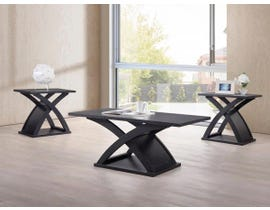 Kwality Imports 3-PC Coffee Table Set in Black Wenge