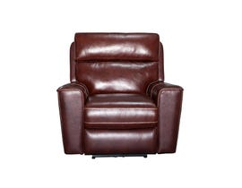 PR Furniture Archie Leather Reclining Power Motion Chair in Chocolate Brown