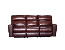 PR Furniture Archie Leather Reclining Power Motion Sofa in Milton Auburn